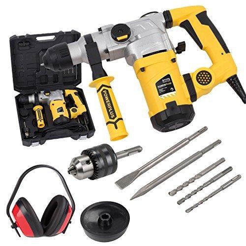 sds plus bohrhammer 1600 watt stemmhammer meisselhammer im koffer gehoerschutz - SDS-Plus Bohrhammer 1600 Watt Stemmhammer Meißelhammer im Koffer + Gehörschutz