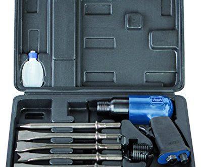 Scheppach Druckluft Meisselhammer Set enthaelt 5 Meisseleinsaetze und ein Oel Flaeschchen 398x330 - Scheppach Druckluft Meisselhammer Set, enthält 5 Meisseleinsätze und ein Öl-Fläschchen, 4500 Schläge/Minute, Arbeitsdruck 6,3 bar, Luftbedarf- Ø79,2 L/min
